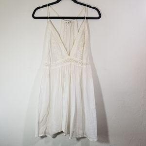 Free People Intimately White Cotton Slip Dress